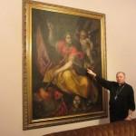 IMG_4040..passo non so se minuti ore o giorni  a palare di prospettiva Tintoretto e Caravggio con L'incantevole Monsignore in tutti i Sensi..
