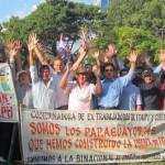 67.IMG_4188.Assuncion Protesta ex obrero della Itaipu..nel mio piccolo con una ola..amplifico la loro  voce