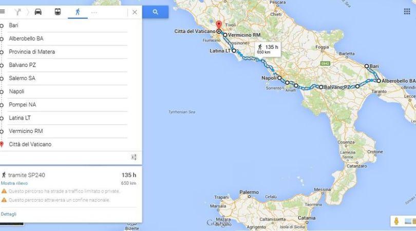 7. Tappe Sud Italia