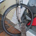 IMG_6674..prima di partire per iIaca la mia bici è sopposta ad una severa ispezione